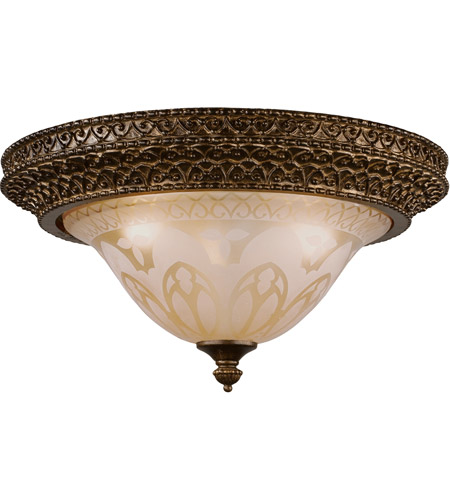 Crystorama 7400-BU Norwalk 3 Light 16 inch Bronze Umber Flush Mount Ceiling Light in Bronze Umber (BU) photo