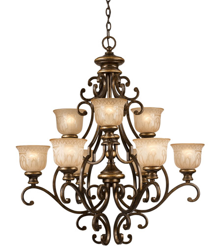 Crystorama 7409-BU Norwalk 9 Light 34 inch Bronze Umber Chandelier Ceiling Light photo