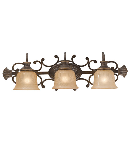 Crystorama Norwalk 3 Light Bath Light in Bronze Umber 7423-BU