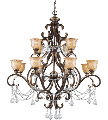 Crystorama Norwalk 12 Light Chandelier in Bronze Umber, Clear Crystal, Swarovski Elements 7512-BU-CL-S photo
