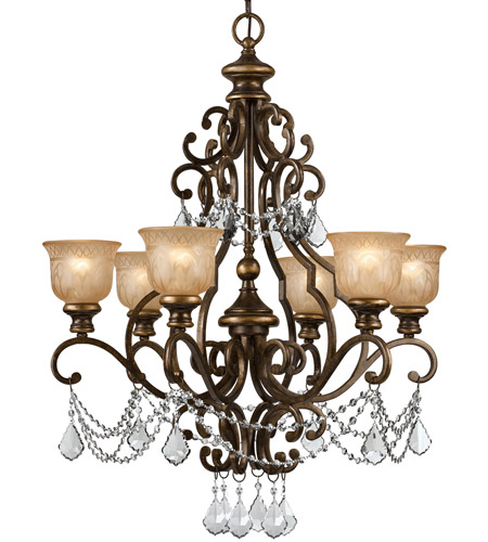 Crystorama Norwalk 6 Light Chandelier in Bronze Umber, Clear Crystal, Swarovski Elements 7516-BU-CL-S photo