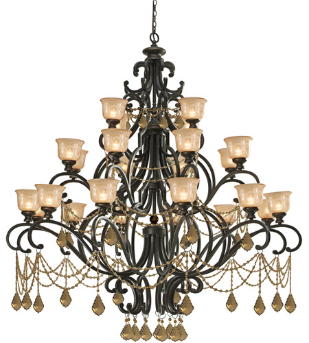 Crystorama Norwalk 24 Light Chandelier in Bronze Umber 7518-BU-GT-MWP photo