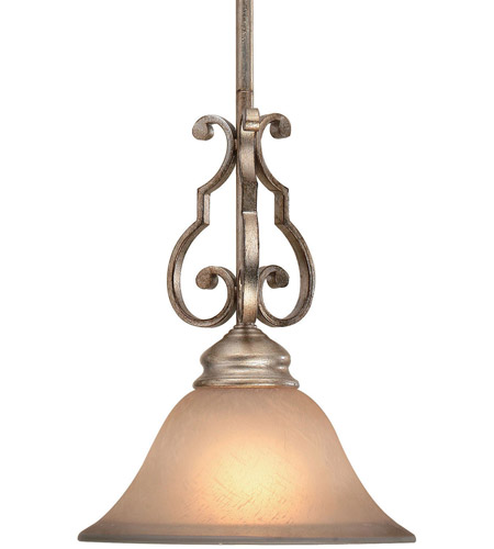 Crystorama 7521-DT Shelby 1 Light 9 inch Distressed Twilight Pendant Ceiling Light photo