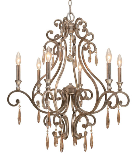 Crystorama 7526-DT Shelby 6 Light 28 inch Distressed Twilight Chandelier Ceiling Light photo