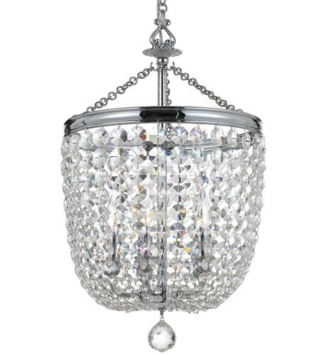 Crystorama 785-CH-CL-S Archer 5 Light 14 inch Polished Chrome Chandelier Ceiling Light in Polished Chrome (CH), Clear Swarovski Strass photo