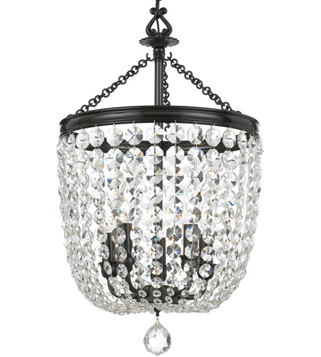 Crystorama 785-VZ-CL-SAQ Archer 5 Light 14 inch Polished Chrome Chandelier Ceiling Light in Swarovski Spectra (SAQ), Vibrant Bronze (VZ) photo