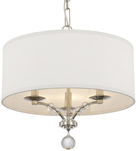 Crystorama 8005-PN Mirage 3 Light 18 inch Polished Nickel Chandelier Ceiling Light photo