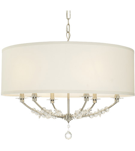 Crystorama 8006-PN Mirage 6 Light 30 inch Polished Nickel Chandelier Ceiling Light photo