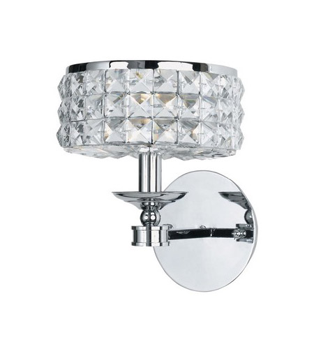 Crystorama Chelsea 1 Light Wall Sconce in Polished Chrome 801-CH-CL-MWP photo
