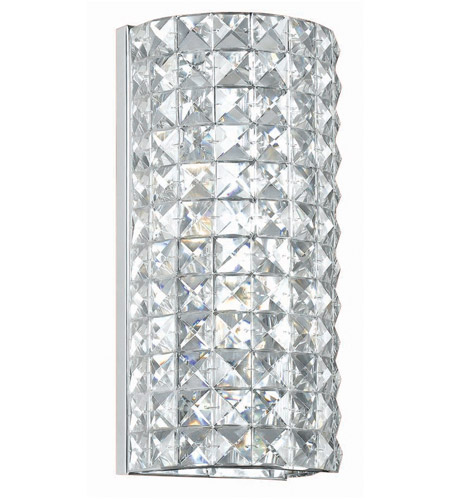 Crystorama Chelsea 2 Light Wall Sconce in Polished Chrome 802-CH-CL-MWP photo