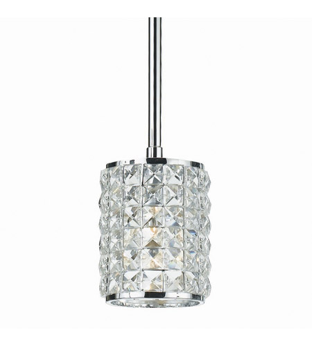 Crystorama 810-CH-CL-MWP Chelsea 1 Light 5 inch Polished Chrome Pendant Ceiling Light in Clear Crystal (CL), Hand Cut, Polished Chrome (CH) photo