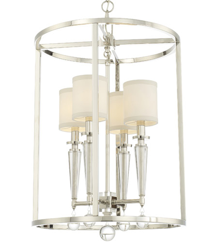 Crystorama 8104-PN Paxton 4 Light 27 inch Polished Nickel Chandelier Ceiling Light photo