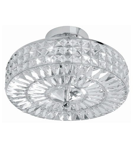 Crystorama 814-CH-CL-MWP Chelsea 4 Light 14 inch Polished Chrome Semi Flush Mount Ceiling Light in Clear Crystal (CL), Hand Cut, Polished Chrome (CH) photo