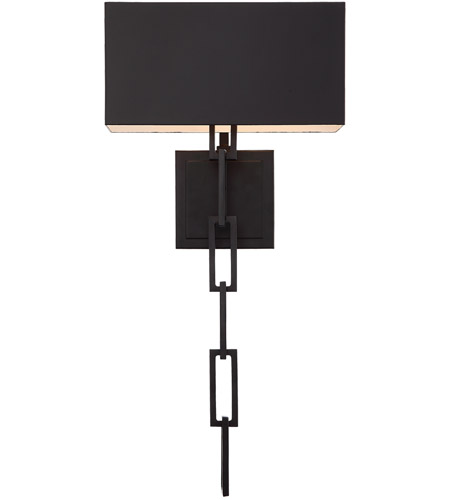 Crystorama 8682-MK-WH Alston 2 Light 6 inch Matte Black and White Wall Sconce Wall Light photo