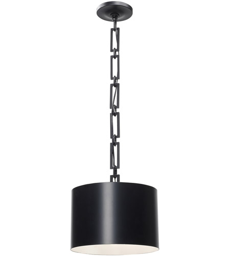 Crystorama 8683-MK-WH Alston 1 Light 12 inch Matte Black and White Mini Chandelier Ceiling Light photo thumbnail