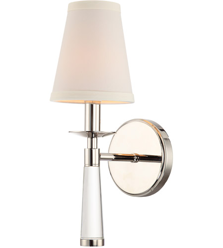 Crystorama 8861-PN Baxter 1 Light 5 inch Polished Nickel Wall Mount Wall Light in Polished Nickel (PN) photo