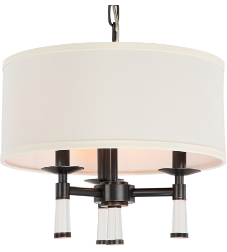 Crystorama 8863-OR Baxter 3 Light 16 inch Oil Rubbed Bronze Mini Chandelier Ceiling Light in Oil Rubbed Bronze (OR) photo