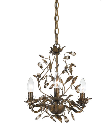 Crystorama Lighting Hot Deal Mini Chandelier in English Bronze 888-P3S-EB photo