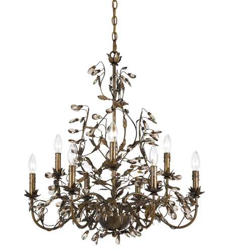 Crystorama Lighting Hot Deal Chandelier in English Bronze 888-P9-EB photo