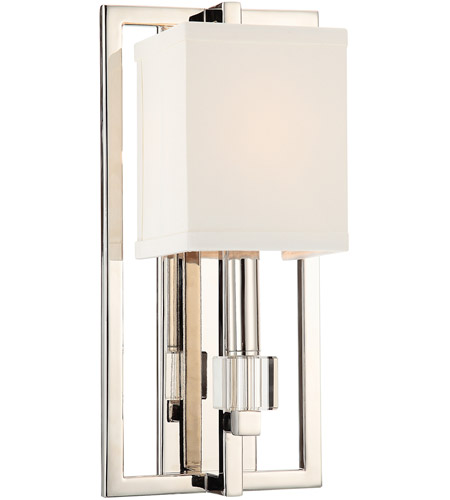 Crystorama 8881-PN Dixon 1 Light 10 inch Polished Nickel Wall Sconce Wall Light photo