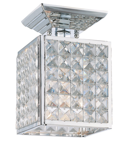 Crystorama Chelsea 1 Light Semi-Flush Mount in Polished Chrome, Clear Crystal, Hand Cut 900-CH-CL-MWP photo