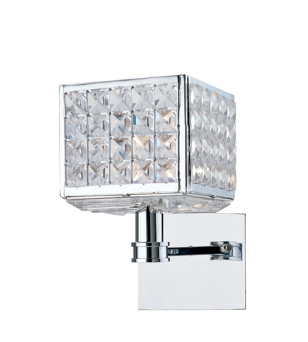 Crystorama Chelsea 1 Light Wall Sconce in Polished Chrome 901-CH-CL-MWP photo