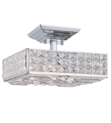 Crystorama Chelsea 3 Light Semi-Flush Mount in Polished Chrome 909-CH-CL-MWP photo