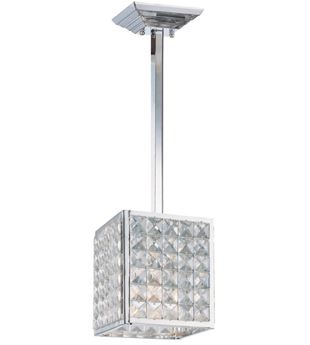 Crystorama Chelsea 1 Light Pendant in Polished Chrome, Clear Crystal, Hand Cut 910-CH-CL-MWP photo