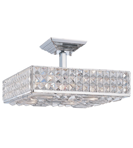 Crystorama 914-CH-CL-MWP Crystorama Chelsea 4 Light Semi-Flush Mount in Polished Chrome 914-CH-CL-MWP  photo