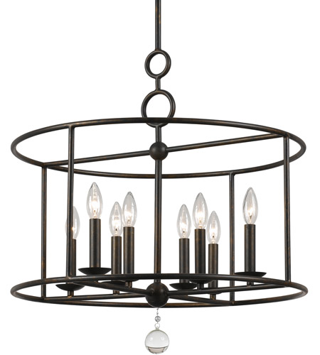 Crystorama 9166-EB Cameron 8 Light 24 inch English Bronze Chandelier Ceiling Light photo