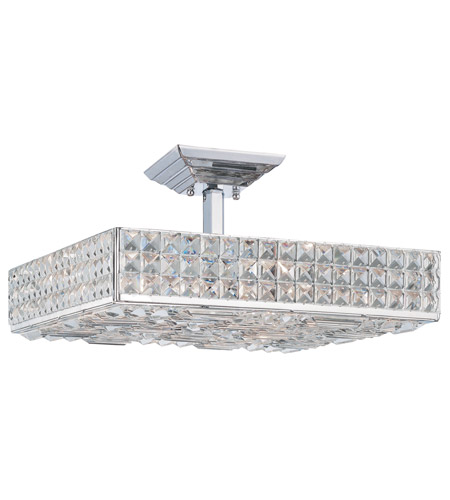 Crystorama Chelsea 6 Light Semi-Flush Mount in Polished Chrome 918-CH-CL-MWP photo