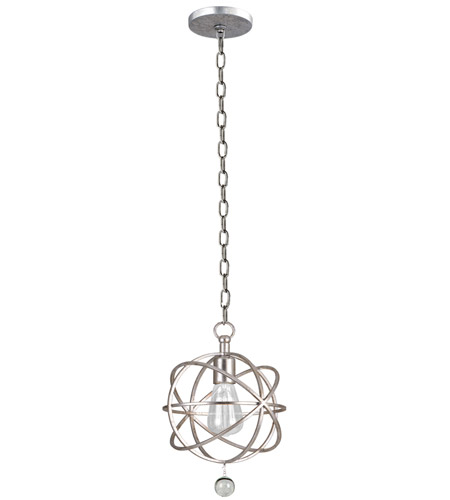 Crystorama 9220-OS Solaris 1 Light 9 inch Olde Silver Pendant Ceiling Light in Olde Silver (OS) photo