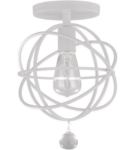 Crystorama 9220-WW_CEILING Solaris 1 Light 9 inch Wet White Flush Mount Ceiling Light in Wet White (WW) photo