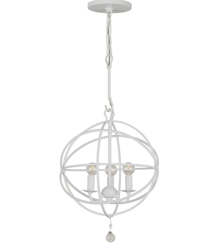 Crystorama Solaris 3 Light Chandelier in Wet White 9225-WW