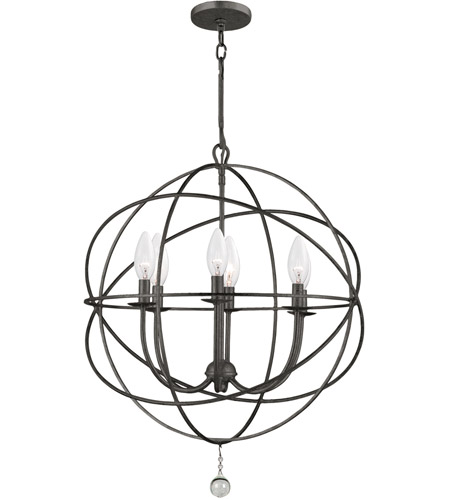 Crystorama Solaris 6 Light Chandelier in English Bronze 9226-EB photo