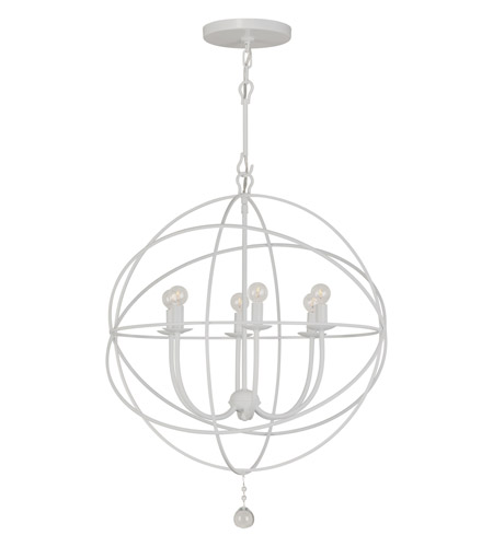 Crystorama Solaris 6 Light Chandelier in Wet White 9226-WW