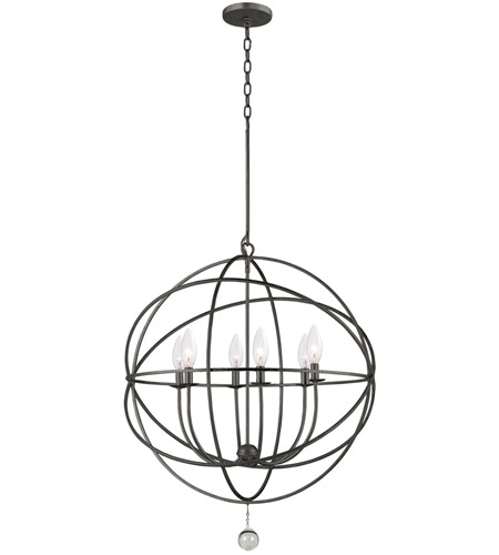 Crystorama 9228-EB Solaris 6 Light 29 inch English Bronze Chandelier Ceiling Light in English Bronze (EB) photo