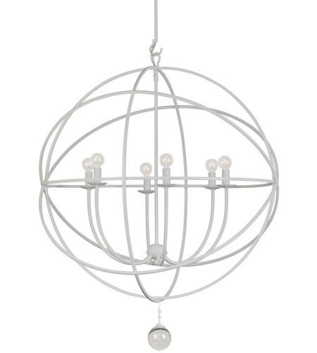 Crystorama Solaris 6 Light Chandelier in Wet White 9228-WW