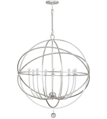 Crystorama 9229-OS Solaris 9 Light 40 inch Olde Silver Chandelier Ceiling Light in Olde Silver (OS) photo