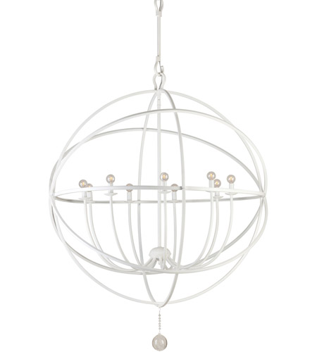 Crystorama 9229-WW Solaris 9 Light 40 inch Wet White Chandelier Ceiling Light in Wet White (WW) photo