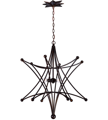 Crystorama 9236-EB Astro 4 Light 27 inch English Bronze Chandelier Ceiling Light photo