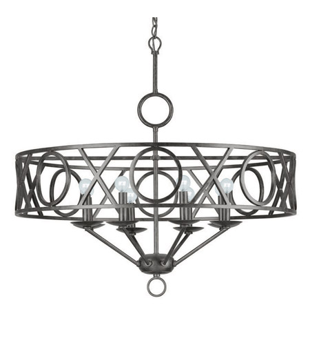 Crystorama Odette 8 Light Chandelier in English Bronze 9248-EB photo
