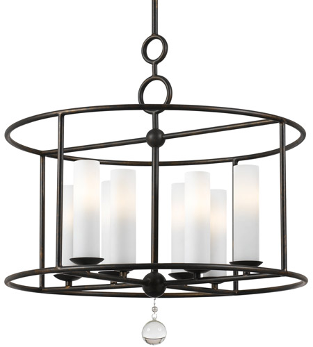 Crystorama 9266-EB Cameron 8 Light 24 inch English Bronze Chandelier Ceiling Light photo