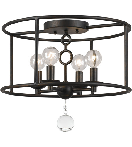 Crystorama 9267-EB Cameron 4 Light 15 inch English Bronze Semi Flush Mount Ceiling Light photo
