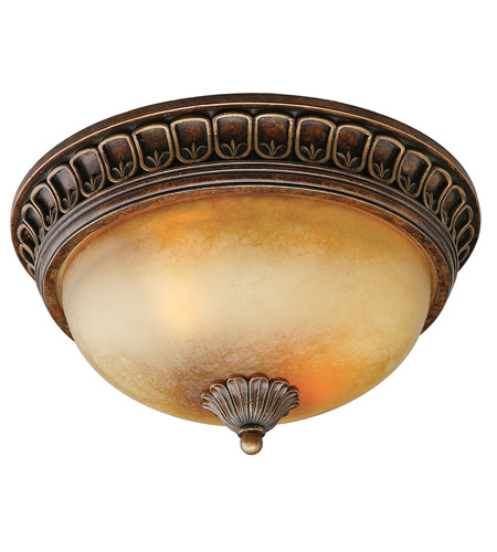 Crystorama Yorktown 2 Light Flush Mount in Espresso 9303-ES