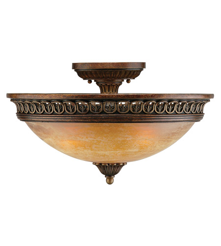 Crystorama Lighting Yorktown 3 Light Semi-Flush Mount in Espresso 9305-ES photo