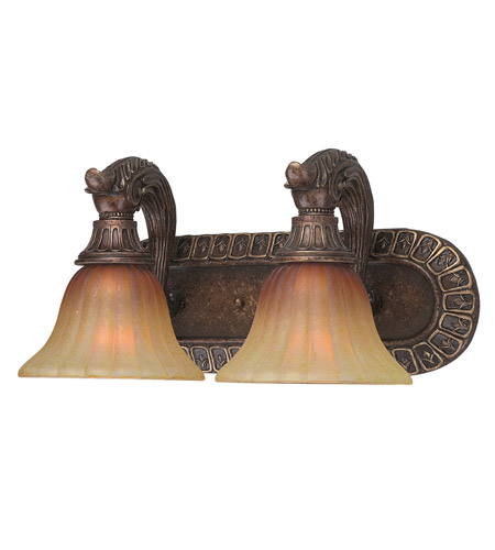 Crystorama Yorktown 2 Light Vanity Light in Espresso 9312-ES photo
