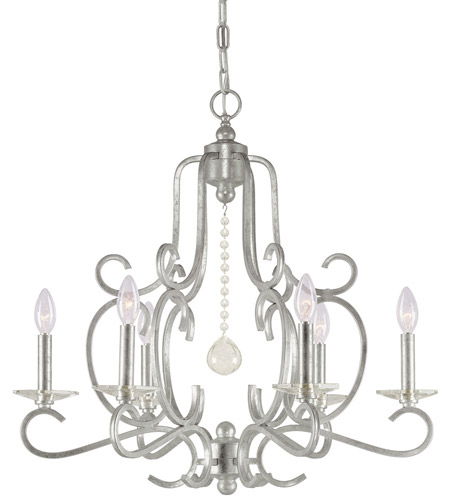 Crystorama Orleans 6 Light Chandelier in Olde Silver 9346-OS photo