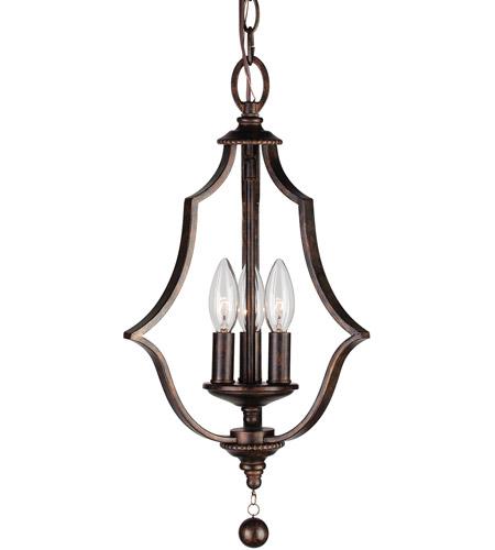 Parson 3 Light 11 Inch English Bronze Mini Chandelier Ceiling