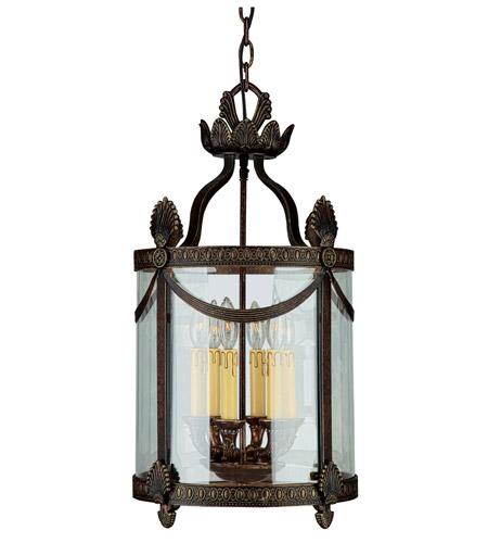 Crystorama Orleans 6 Light Foyer Lantern in Espresso 9405-ES photo